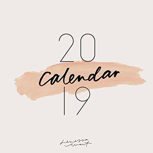 2019 Inspirational Christian Calendar, Wall Calendars, Calligraphy Calendar, Christian Planner, Minimalist, Jenessa Wait (12x12 inch)