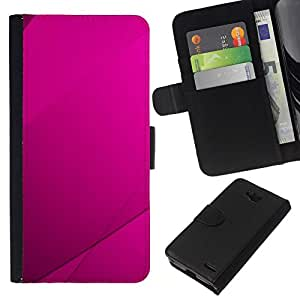 // PHONE CASE GIFT // Moda Estuche Funda de Cuero Billetera Tarjeta de crédito dinero bolsa Cubierta de proteccion Caso LG OPTIMUS L90 / Purple Tile /