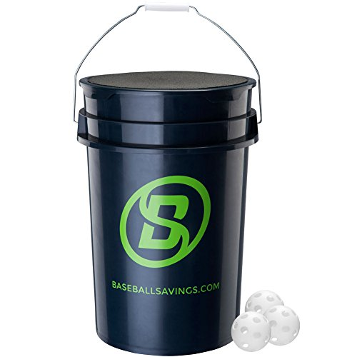 Baseball-Softball Savings Baseball Savings Bucket W/Plastic 9In Training.
