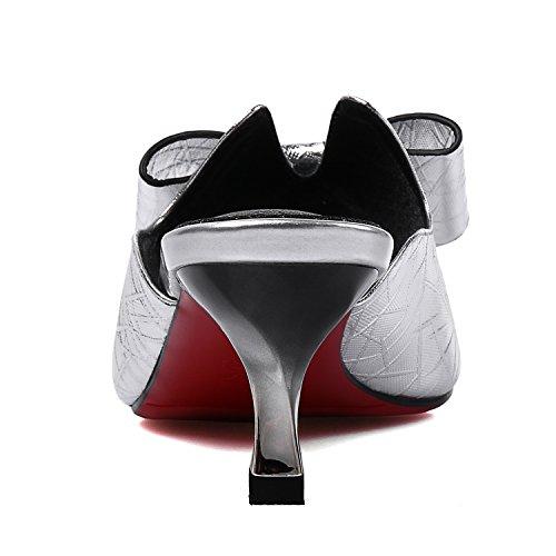 cuir avec les nouveaux en de verres TMKOO pantoufles à 2017 chantiers vin avec arc grands Argent grandes Bn0wBYqpO