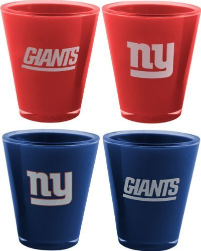 New York Giants Shot Glass (NFL New York Giants 4-Pack Acrylic Team Color Acrylic Shot Set)