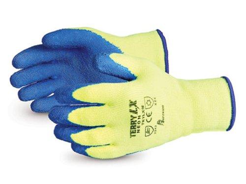 Superior TKYLX Dexterity LX Reverse-Terry High-Viz Winter Knit Glove with Latex Palm, Work, Large, Yellow (Pack of 1 Dozen) by Superior Glove Works B00BHMKTR4