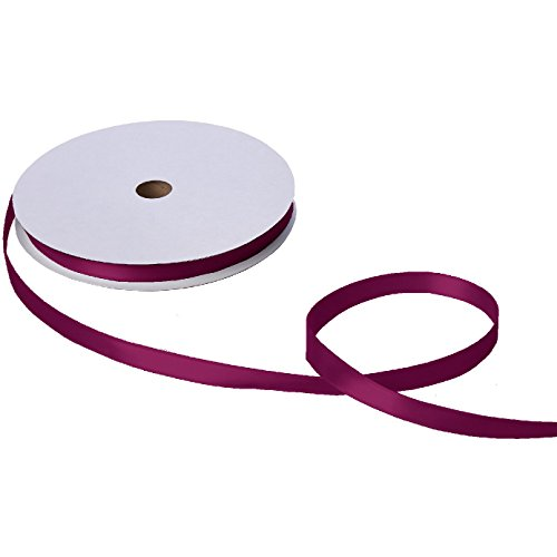 Jillson & Roberts Double-Faced Satin Ribbon, 5/8'' Wide x 100 Yards, Burgundy by Jillson Roberts