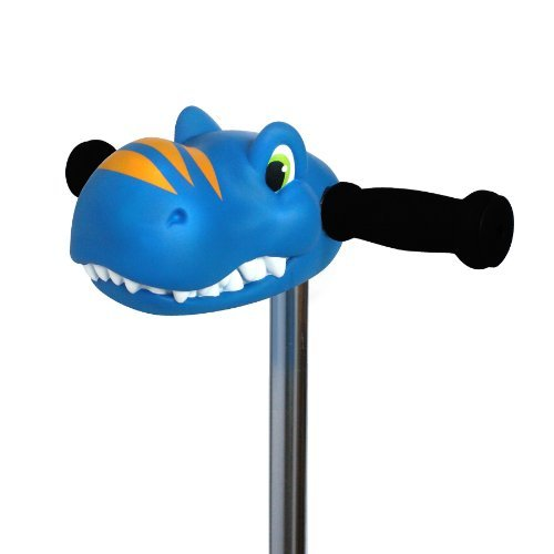 Scootaheadz Kids Dinosaur and Horses T-Bar Kick Scooter Accessory Toy,Timmy T-Rex Blue Dino