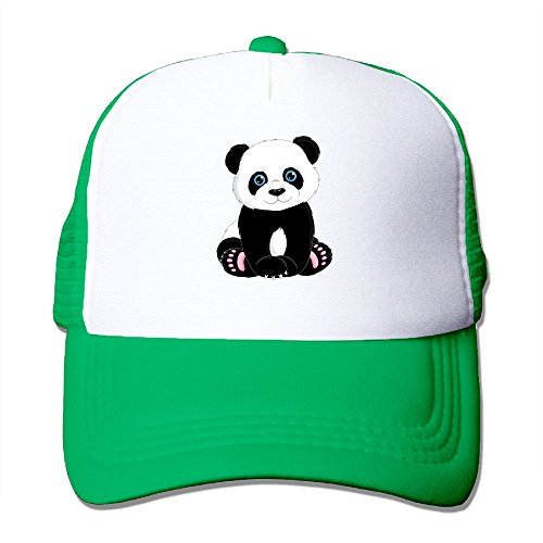 fan products of Antonia Surrey Funny Panda Bear Love Basketball Baseball Cap Skull Cap Optimum Cap Tactical Cap One Size Fits All Hat KellyGreen
