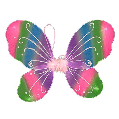 Dushi Girls Butterfly Craze Fairy Wings for Fairy Costumes Party Favor (Rainbow) …