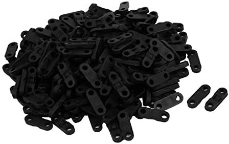 CHENBIN-BB 固定340Pcs黒いプラスチック製のケーブルクリップクランプワイヤータイマウントネジベースファスナー