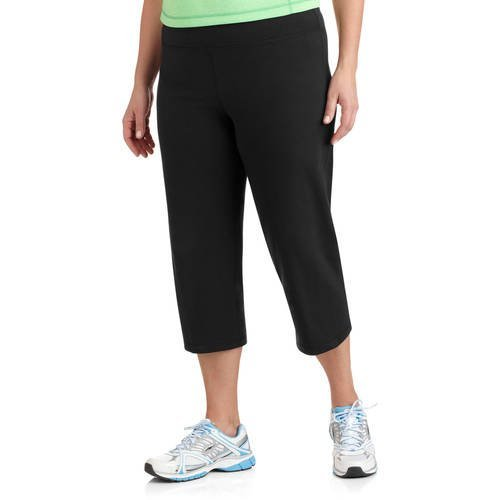 (Danskin Now Womens Plus Size Dri-More Core Capri Pants Activewear Casual Wear by (Black, 1X))