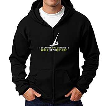 Teeburon To Windsurf or not to Windsurf, what a stupid question!! Sudadera con cremallera