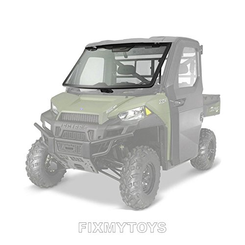 Polaris New OEM UTV Lock & Ride Pro Fit Tip Out Glass Windshield, 2882189