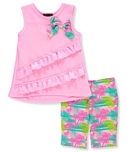 New Girl Kid 2 Piece (New Chic Girls' 2-Piece Outfit - Pink/Multi, 6X)