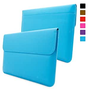 Surface Pro 1 & 2 Case, Snugg™ - Leather Sleeve Cover with Lifetime Guarantee (Cyan) for Microsoft Surface 1 & 2, RT & Pro