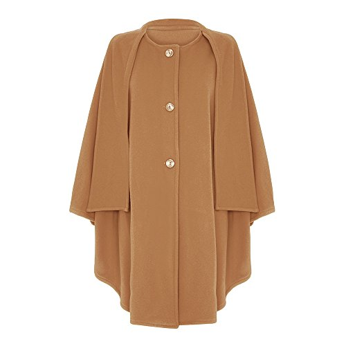 Wool & Cashmere Cape with Scarf, Beige