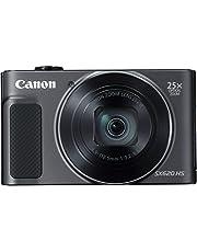 Canon PowerShot SX620 HS Digitale camera (20,2 MP, 25x optische zoom, 50x ZoomPlus, beeldscherm van 7,5 cm (3 inch), CMOS-sensor, DIGIC4+, optische beeldstabilisator, wifi, NFC, hdmi) camera, zwart