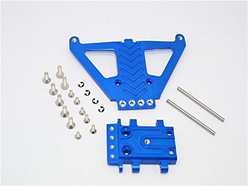 Traxxas Slash 4x4 LCG (68086-21) / Deegan 38 Fiesta (74054-6) Tuning Teile Aluminum Front Gear Box Protector - 1Pc Set Blau