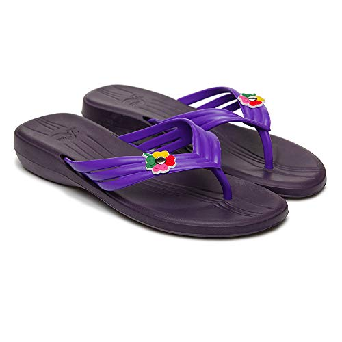 Dune Plum - Dune-ast 819 Slide Sandals for Women (9 1/4 W, Plum/Lilac)