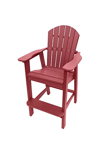 red adirondack chair resin - 6