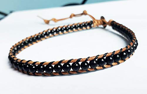 Choker Onyx - Onyx choker necklaces stone choker leather choker men choker women choker gift choker black choker fashion choker friendship choker