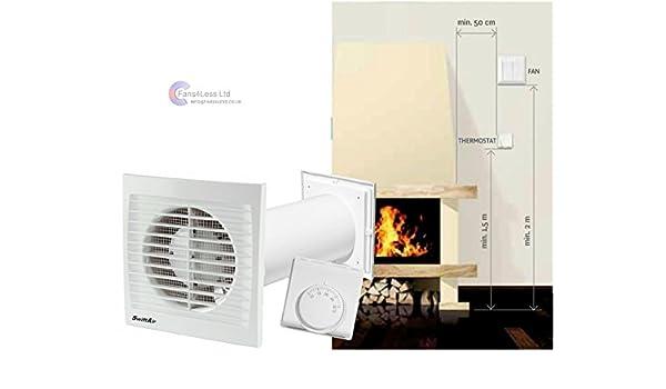 Distribución de aire caliente una habitación a otra sala de ...