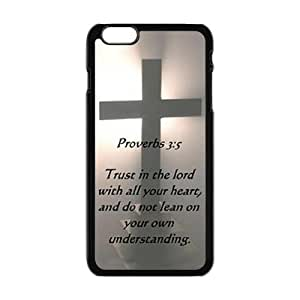 DaojieTM Generic God and Cross Personalized Custom Phone Case for Iphone 6 Plus 5.5 Inch Hard Case Cover Skin