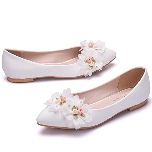 Qingchunhuangtang@ Frühling und Herbst Frauen Schuhe Schuhe handgearbeitete Spitze Spitze Party Schuhe Braut und Brautjungfern Schuhe Schuhe