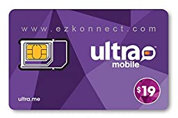 Ultra Mobile triple punch Regular, Micro and Nano all in one SIM Card + $19 Plan free