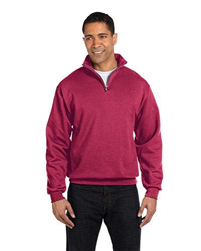 Golf Vintage Sweatshirt (JERZEES Adult NuBlend(r) Quarter-Zip Cadet-Collar Sweatshirt>L Vintage Heather Red)