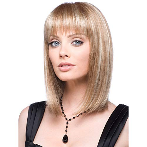 (Women Short Bob Wigs with Wavy Synthetic Hair for Women Daily Everyday Wear Cosplay Costume Halloween Party Cross dressing)