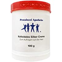 Kolloidales Silber Creme (100 g) aus Apotheken-Herstellung - hochwertige Qualität - bewährte Originalrezeptur Silbercreme Pestalozzi-Apotheke