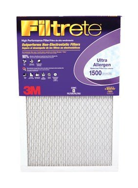 (Filtrete MPR 1500 12 x 20 x 1 Healthy Living Ultra Allergen Reduction HVAC Air Filter, Captures Fine Inhalable Particles like Bacteria & Viruses, Guaranteed Airflow up to 90 days, 6-Pack)