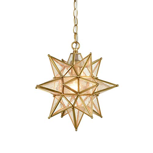 Star Pendant Light Fixture Glass in US - 7