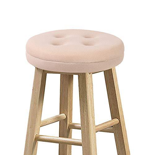 (baibu Round Stool Cushions, Super Breathable Round Bar Stool Cover Seat Cushion Beige 12
