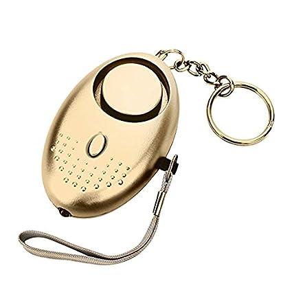 ZHONGYU 130 DB Llavero de Alarma de Seguridad con Alarma de ...