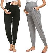 Liu & Qu Maternity Women's Casual Pants Stretchy Comfortable Loun