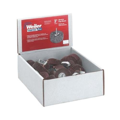 Weiler Aluminum Oxide Flap Wheel Set - Fine, Medium Grade(s) Included - 3 in Dia Included - 36502 [PRICE is per EACH]