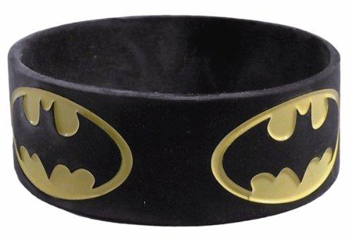 DC Comics BATMAN Repeat Logo Rubber Bracelet WRISTBAND