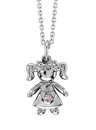 - Esty & Me Necklace with Swarovski Simulated Birthstone, Little Girl Pendant - June