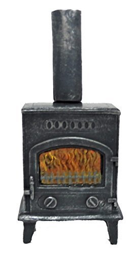 Amazon.es: MELODY Jane Casa De Muñecas Estufa leña Burning Estufa GREY 1:12 Muebles Miniatura: Juguetes y juegos