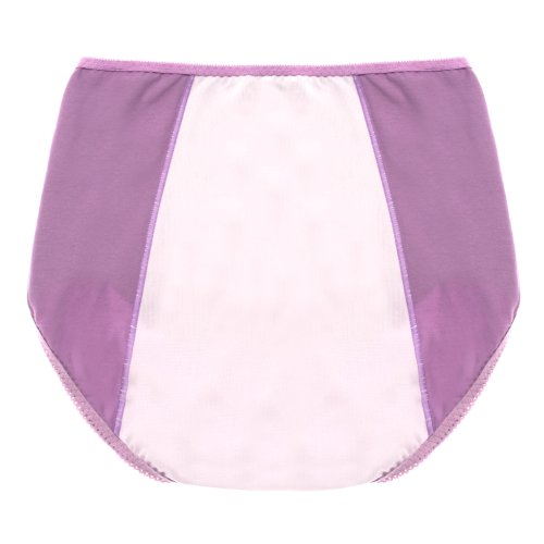 Intimate Portal Women Essentials Leak Proof Incontinence Brief Period Panties Purple Pink Small