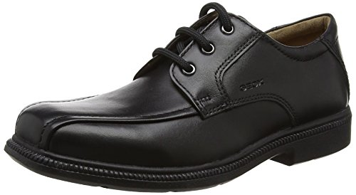 Geox Boys' JR Federico 3 Uniform Dress Shoe, Black, 33 M EU Big Kid (2 US)