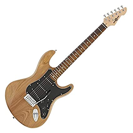 LA II Electric Guitar SSS by Gear4music Natural