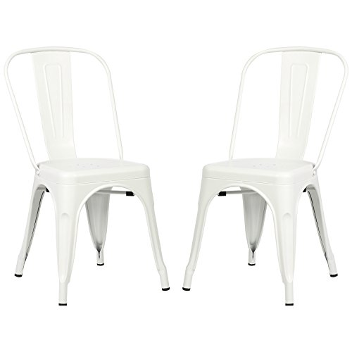 Poly and Bark Trattoria Side Chair in White (Set of 2)