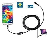 Ugetde Android Endoscope 7mm Micro USB Borescope IP67 Waterproof Inspection Camera for Laptops and USB OTG Compatible Android Smartphones (3.5M)
