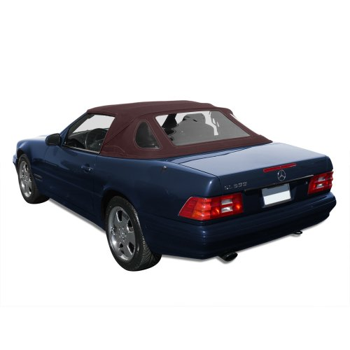 Mercedes Benz SL R129, 1990-2002 Complete Convertible Top with 3 Plastic Windows and Haartz Stayfast Cloth, (Plastic Window Stayfast Cloth)