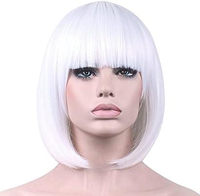 Wig Lady Women Short Hair Straight Hair Full Wigs Bob Hair Solid Color Soft 2018
