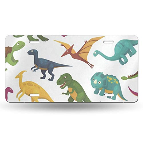License Plate Frame Flask Dinosaur Customized Aluminum Metal Tag Holder Waterproof 12 x 6 Inch Decoration 2 - Polished Flask