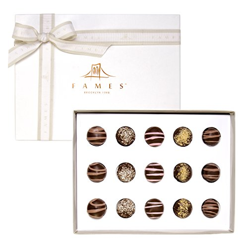 Chocolate Gift Box Gourmet Assorted Gift - Handcrafted Deluxe Chocolates - Great for Corporate Gifts For Clients - Kosher Pareve - By Fames Chocolates (World Best Chocolate Brands)