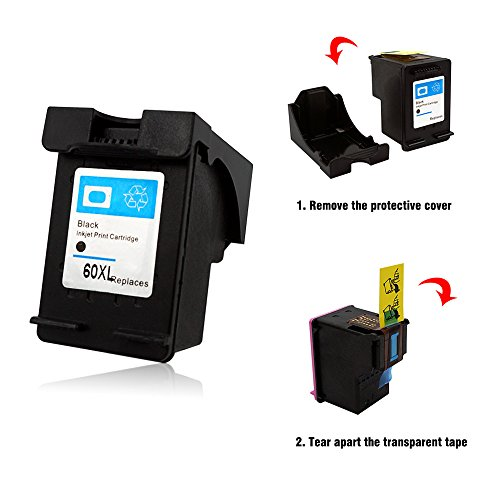 60%OFF Adouiry Remanufactured for HP 60 XL Ink Cartridge 1