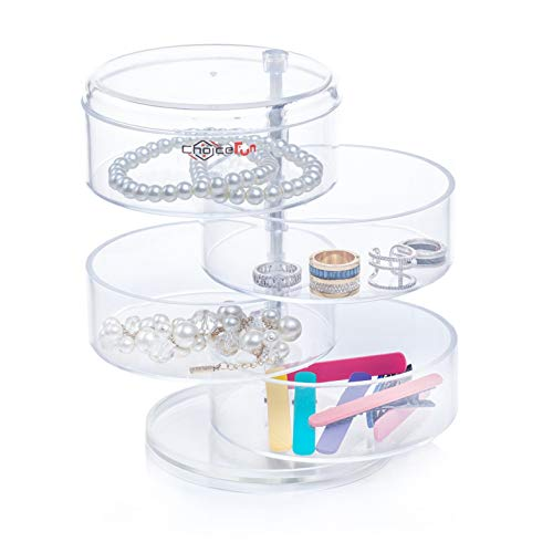 Choice Fun Acrylic Jewelry and Accessories Organizer 4 Spining Tiers Transparent QFJJSN-NSF-3472 by Choice Fun