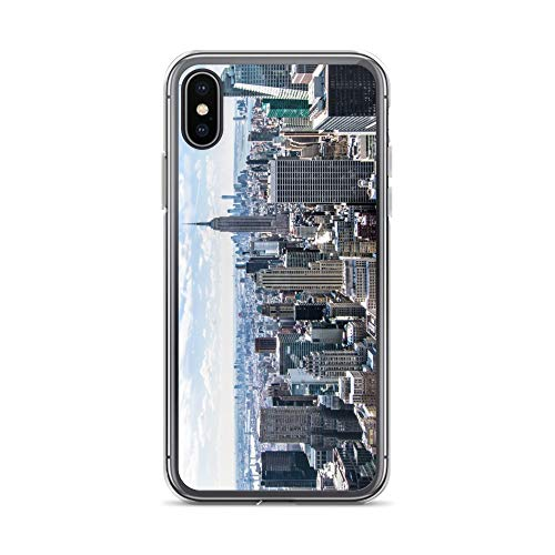 iPhone X/XS Case Anti-Scratch Motion Picture Transparent Cases Cover New York 15 Movies Video Film Crystal Clear